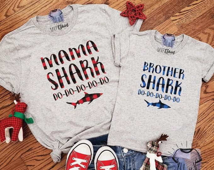 Featured listing image: Buffalo Plaid Shark Family