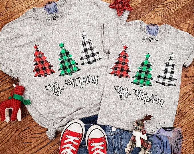 Featured listing image: Christmas Plaid Trees Be Merry