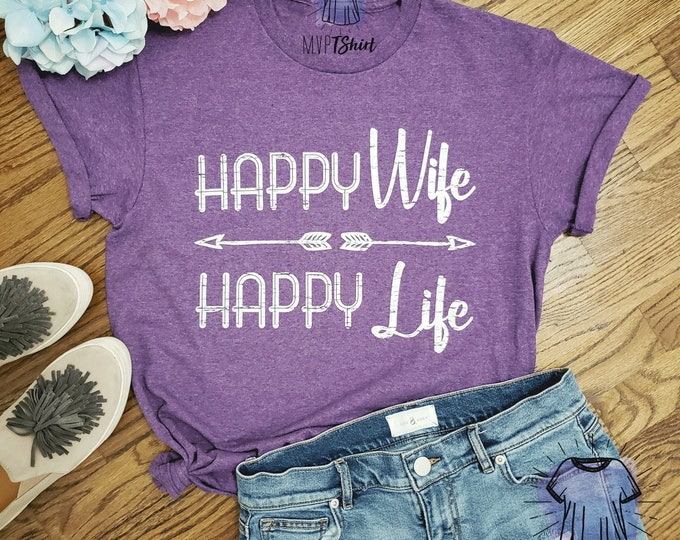 Mother's Day Tee-Happy Wife Happy Life
