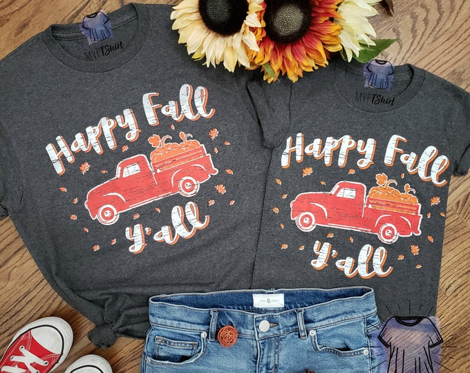 Featured listing image: Happy Fall Y'all Adult and Youth