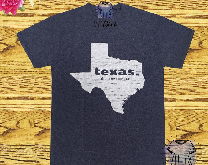Texas Lone Star State Map Vintage