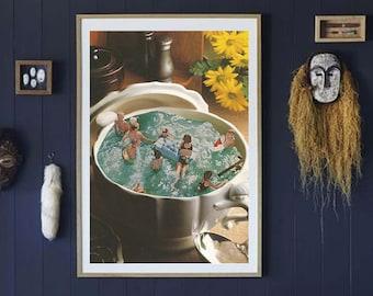 Kitchen art, Food prints, Large print, Large wall art,  extra large wall art, large wall print, Hallway art, Livingroom art