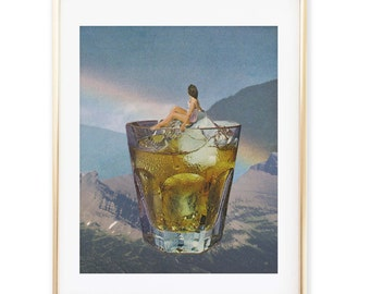 Cocktail print - Kitchen art print- Cocktail poster - Friday print