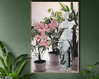 Plants extra large art print - Floral home decor