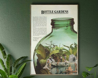 Botanical large art print - Plant wall decor