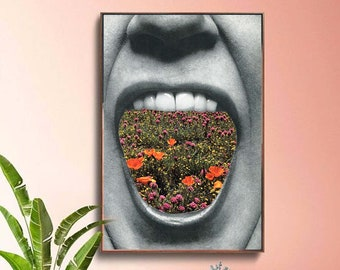 Floral prints, Flowers poster, Large print, Large wall art,  extra large wall art, large wall print, Hallway art, Livingroom art