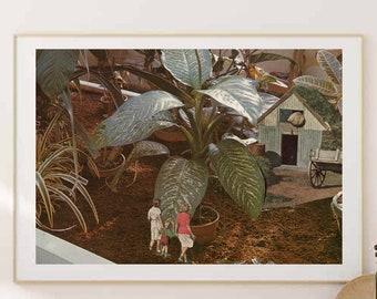 Large botanical art print, oversized wall art for living room, kitchen, bedroom, plants, nature