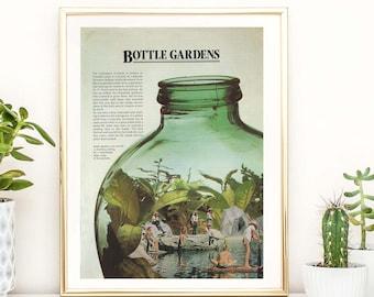 Terrarium Succulent Plant Art Print, Houseplant Art Print, Plant Lady Art, A3, A4 Modern art