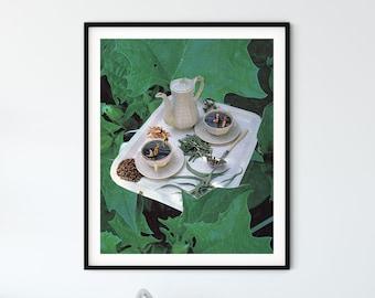 Tea print, afternoon tea gift, afternoon tea prints, kitchen wall art