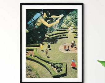 Garden art, Botanical prints, Nature art, Divers gift, Sea prints, Unique artwork, Modern art