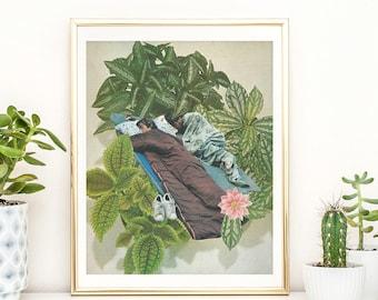 Botanical Prints - Vintage Botanical prints - Boho Decor - Tropical Poster - Gift for her/him - Leaf print - Minimalist,Gift for plant lover