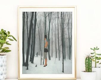 Minimalist Wall Art, Print Tree Art, Wall Decor, Poster, Minimalist, Scandinavian Art ,Modern Art, Tree Print, Woodland art, Nature wall art