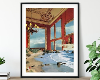 Architecture print, Travel poster, Sea art, Large wall art,  extra large wall art, large wall print, Hallway art, Living room art