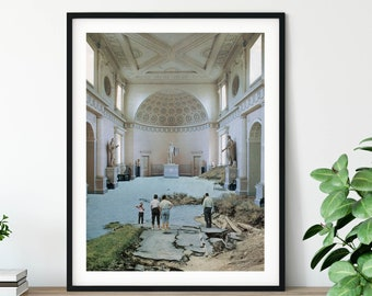 Architecture large art print - Museum poster - Extra Large Wall Art