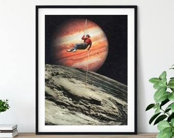 Travel print, Inspirational art, Planets print, Earth art, Universe space poster