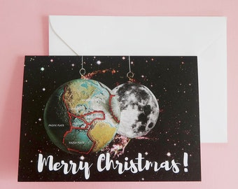 Merry Christmas Card, Merry Christmas cards, Xmas card, unique Christmas card, cute Christmas card