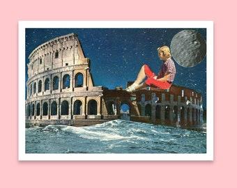 Postcard art print - A6 card - Italy inspired art