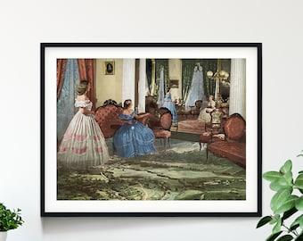 Vintage decor print, Nature art, Retro prints, Extra large prints, Extra large wall art, Oversized wall art, Large prints