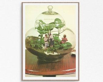 Terrarium Print, Jungle Print, Botanical, Plants Print, Succulents Wall Art, Cactus Wall Decor, Boho decor, Tropical prints
