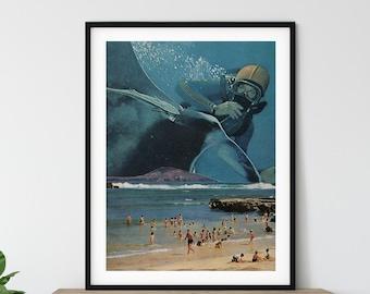 Big beach print, Staple artwork for living room, bedroom, bathroom or office, Extra large beach print
