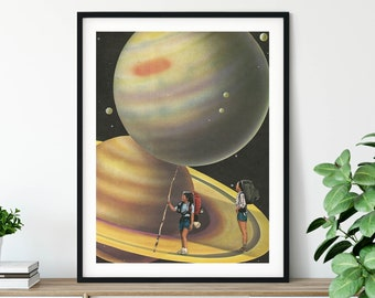 Planets print, Universe art, Saturn, Living room wall decor, Extra large prints, Extra large wall art, Oversized wall art, Large prints