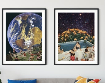 Set of 2 large prints - Wall art - Bedroom set prints - Living room set prints