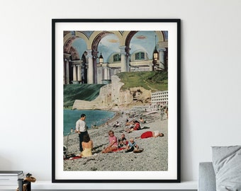 Large beach art print, Large wall art poster, Huge living room decor