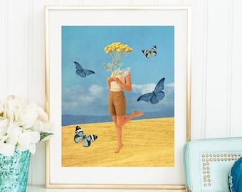 Butterfly print - Summer prints - Fantasy art