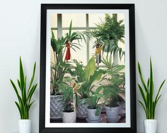 Botanical large wall art, Plants prints, Oversized posters, Hallway prints, living room art