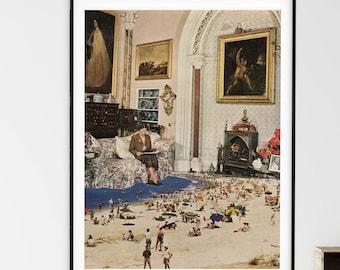 Beach print, Large wall art,  extra large art, 30 x 40, 20 x 30, 45 x 30 prints, retro print, sea prints