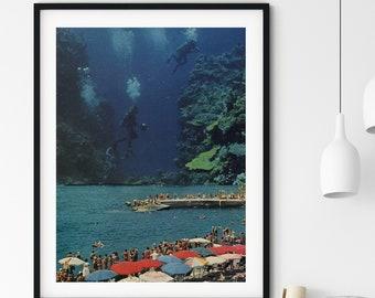 Beach print, Art poster, Large prints, Tropical Travel prints