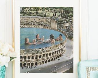 Italy print, Italy wall art, Italy gift, Italy Poster, Rome print, Rome wall art, Rome art print, Travel Poster