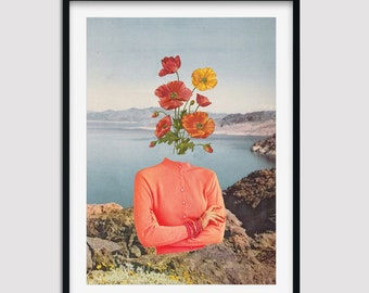 Floral print wall art, Flower wall prints, Sea , Landscape, Nature