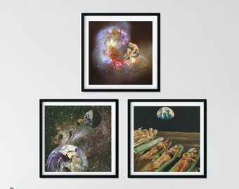 3 piece wall art - Set of 3 square prints