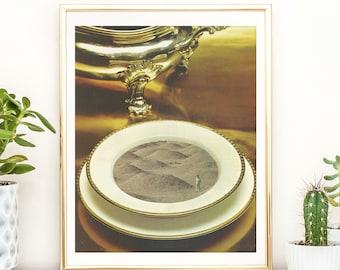 Desert print, desert decor, desert wall art, desert art, boho print, minimalist art, 8x10 art print