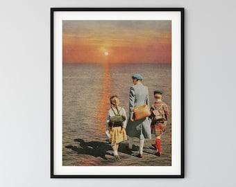 Sun Print, Mid Century Art, Retro Minimal Art ,Minimalist Print ,Scandinavian Poster, Home Gift