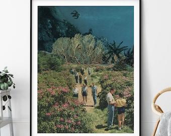 Large wall art print, Nature prints, Floral and underwater, Modern art print, Living room prints, Bedroom, Bathroom