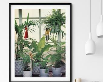 Plants prints, Botanical art, Indoor plants, Large wall art, Extra large wall art, Large print, Wall art prints, Large prints