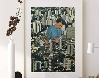 City prints, Buildings poster, Gift for an architect