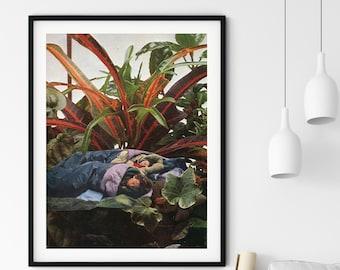 Plants print, Botanical art, Large wall art, Extra large wall art, Large print, Wall art prints, Large prints