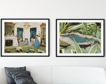2 large nature prints - Extra large print sets of 2 artworks