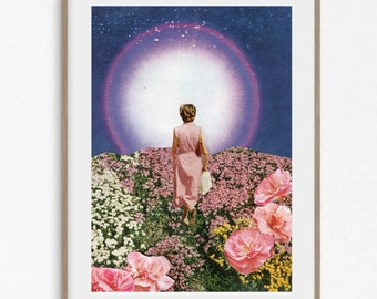 Floral print, flowers print, purple prints, bright poster, pink poster, pink flowers, purple wall art, 8x10 prints