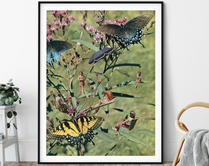 Featured listing image: Butterfly nature print,  Large wall art, Extra large wall art, Large print, Wall art prints, Large prints