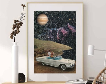 Couple wall art, Universe space prints, Large wall art, Oversized living room, bedroom, kitchen art posters