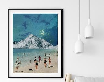 Beach Print, Beach decor, Bathroom art, Large wall art, Extra large wall art, Large print, Wall art prints, Large prints