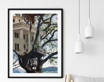 Tree prints, Tree house, Unique art, Collage art,  Fantasy art, A4 poster, A3 print, Large wall art