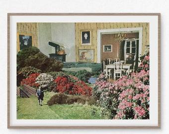 Kitchen wall art, kitchen art, retro decor, retro prints, mid century, garden art, botanical print, floral art, modern prints, fine art