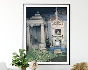 Nature prints, Royal bedroom, Large wall art,  extra large art, 30 x 40, 20 x 30, 45 x 30 prints, retro print