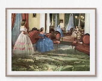 Landscape art, Landscape print, Vintage poster, Retro art, Luxury prints, Fine art, Unusual art