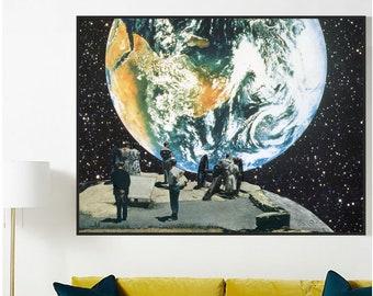 Earth print, Extra large prints, Large wall art, Living room art print, Bedroom print, Hallway print, Large art